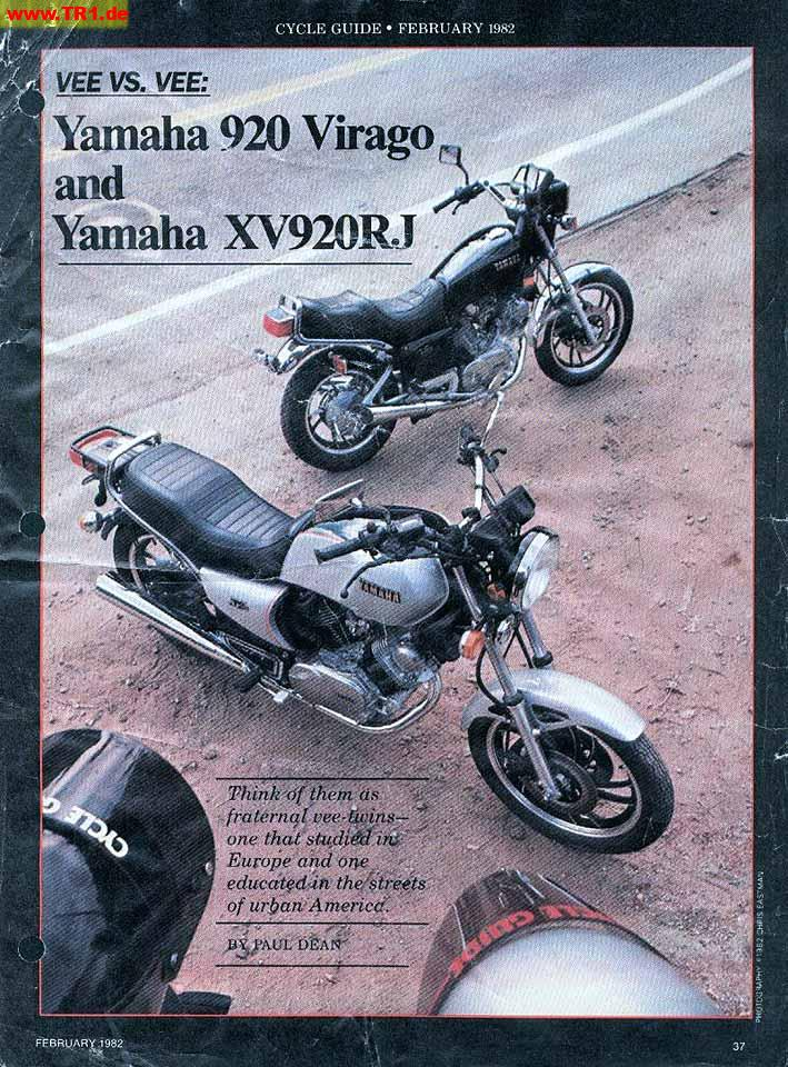 English magazines - Manfred's TR1  Page - All about YAMAHA