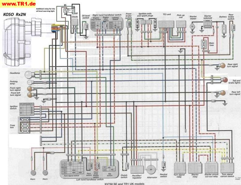 xv1100 wiring diagram Wiring Diagrams And Schematics – Xv750 Wiring Diagram 1985