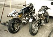 Some more details of the 1200cc and one of his Norton Featherbed frame bike [1 of 4]